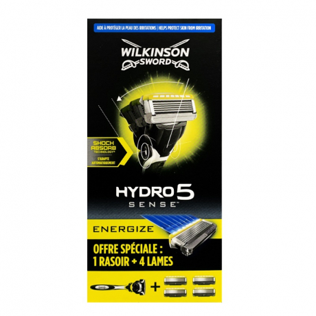 Бритва Wilkinson Hydro 5 Sense Energize (1 бритва + 4 картриджа)