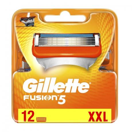 Сменные лезвия Gillette Fusion 5 (12 картриджей)