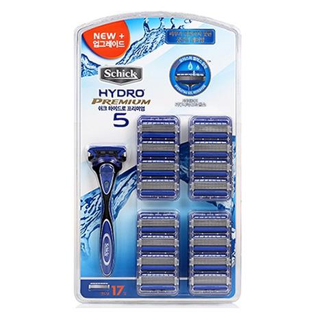 набор schick hydro 5 premium 16 сменных картриджа