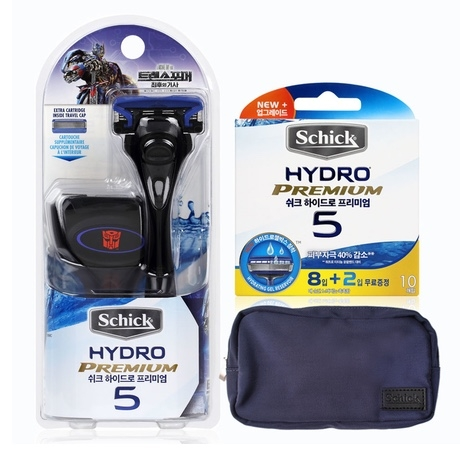 Бритва Schick Hydro 5 Premium Special Edition (1 бритва + 12 картриджей + сумка + футляр)