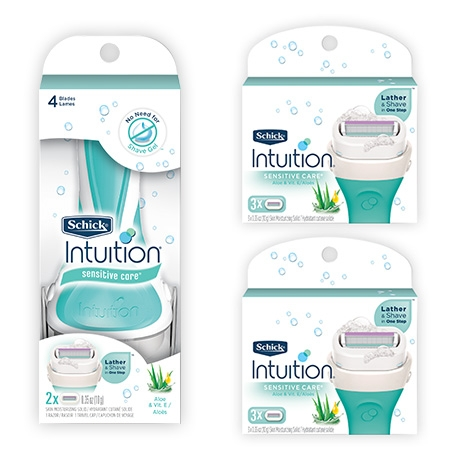 Бритва Schick Intuition Sensitive + 6 карт.