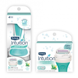 Бритва Schick Intuition Sensitive + 3 карт.
