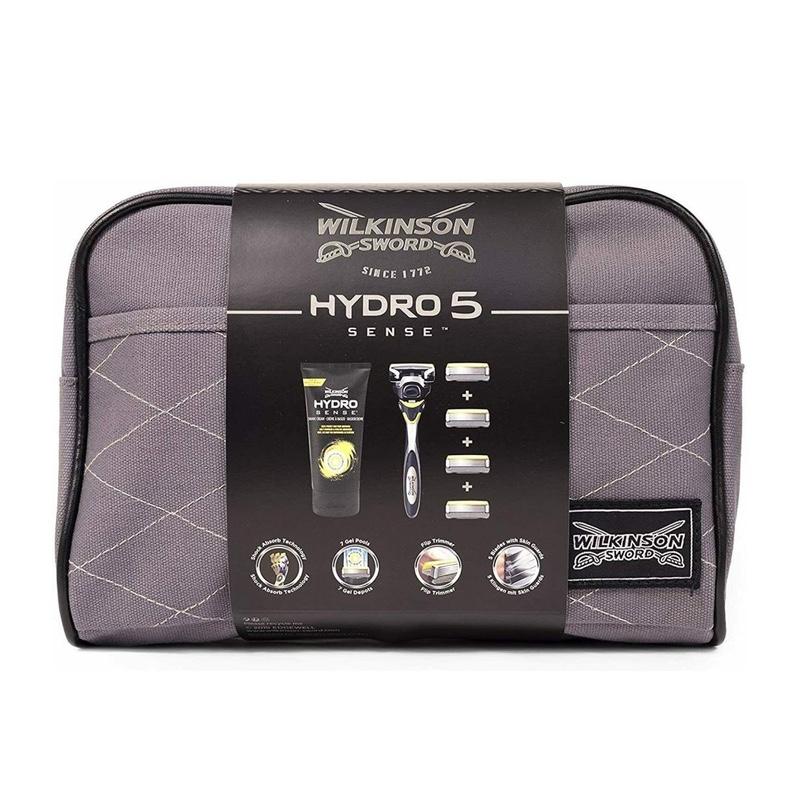 Бритвенный набор Wilkinson Sword Hydro 5 Sense Energize (бритва + 5 картриджей + сумка + крем)