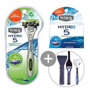 Бритва Schick Hydro 5 Premium Sensitive (1 бритва + 2 картриджа + подставка)