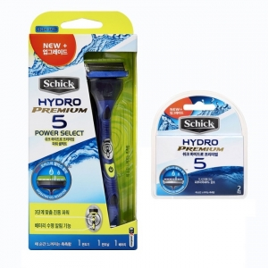 Бритва Schick Hydro 5 Power Select Premium (1 бритва + 2 картриджа)