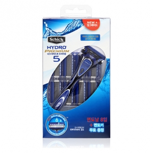 Набор Schick Hydro 5 premium + 8 картриджей