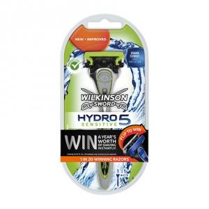 Бритва Wilkinson Sword Hydro 5 Sensitive (1 бритва + 1 картридж + подставка)