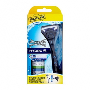Travel Kit Wilkinson Sword Hydro 5 (1 бритва + пена Wilkinson (50мл) + футляр)