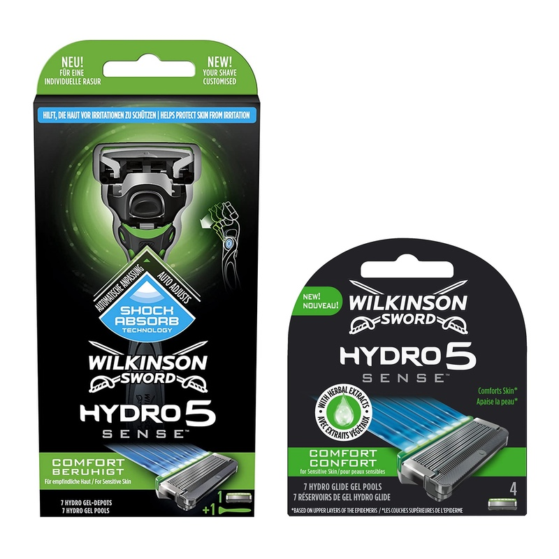 Набор Wilkinson Sword Hydro 5 Sense Comfort (1 бритва + 4 картриджа)