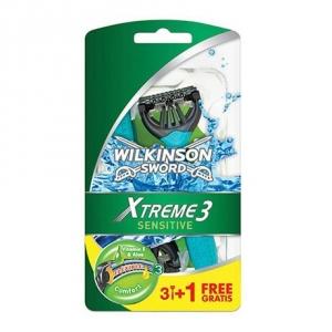 Одноразовые бритвы Wilkinson Sword Xtreme 3 Sensitive (4 бритвы)