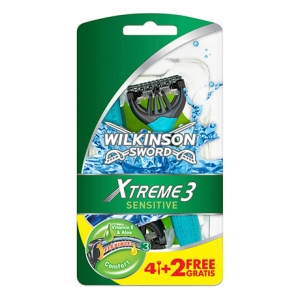 Одноразовые бритвы Wilkinson Sword Xtreme 3 Sensitive (6 бритв)