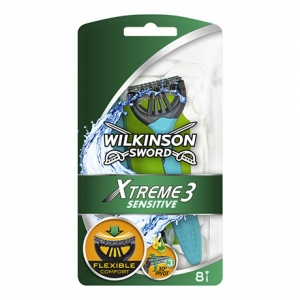 Одноразовые бритвы Wilkinson Sword Xtreme 3 Sensitive (8 бритв)