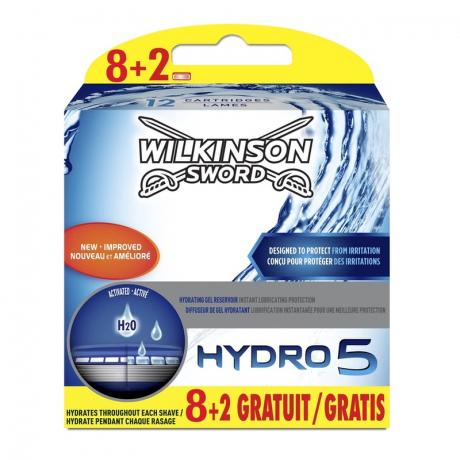 Сменные лезвия Wilkinson Sword Hydro 5 (8+2 картриджа)